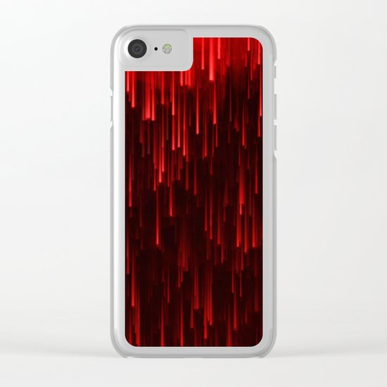 Raining Red / Autumn 13-10-16 Clear iPhone Case