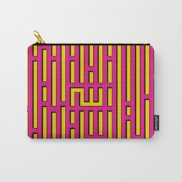 Allah Kufic Calligraphy (Pink) Carry-All Pouch