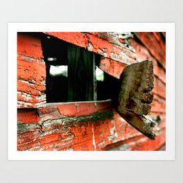 Barn Side Art Print