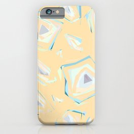 Deformed cosmic objects soft coral, floating in the empty space, geometric shapes, texture, pattern iPhone Case