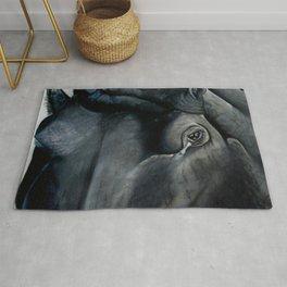 Hippo up Close Rug