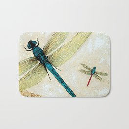 Zen Flight - Dragonfly Art By Sharon Cummings Bath Mat