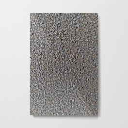 Grey Gravel Pattern Rocks Metal Print