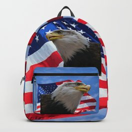 American Flag and Bald Eagle Backpack