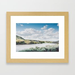 A Bend in the Yellowstone Framed Art Print