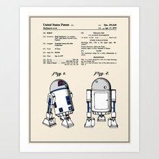 R2D2 Patent - Colour Art Print