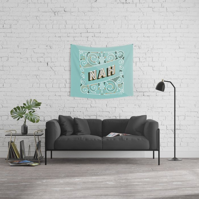 Nah – Mint & Rose Gold Palette Wall Tapestry
