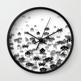 Invaded III B&W Wall Clock