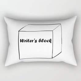 Funny Writer Gift: Writer's Block Print Rectangular Pillow