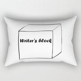 Funny Writer Gift: Writer's Block Print Rectangular Pillow