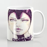 fashion illustration Mugs featuring Fashion illustration  by Ioana Avram