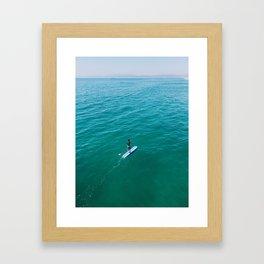California weekend - paddleboarding Framed Art Print