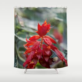 Fiercely Red Shower Curtain