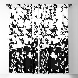 Birds in flight. Allegory of day and night Blackout Curtain
