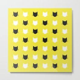 Cat Pattern 04 Metal Print