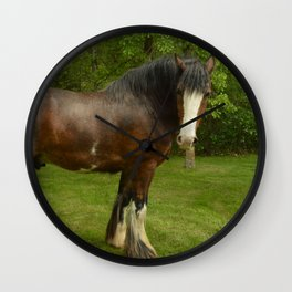 Clyde the Clydesdale Wall Clock