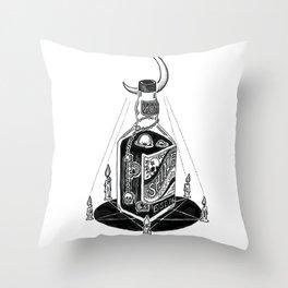 Devil's Moonshine Throw Pillow