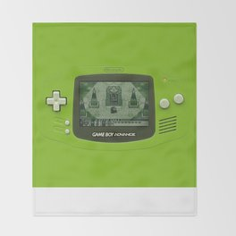 Gameboy Zelda Link Throw Blanket