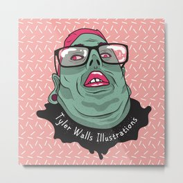 Selfie - Tyler Walls Illustrations Metal Print