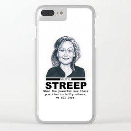 Meryl Streep Clear iPhone Case
