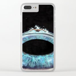 Swimming In My Mind's Eye Clear iPhone Case