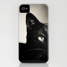 Black Cat iPhone (4, 4s) Slim Case