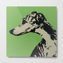 Greyhound art print Metal Print