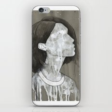 girl with a silver trabzon hasırı necklace iPhone & iPod Skin