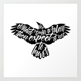 Six of Crows - Falcon design Art Print