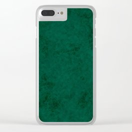 Green suede Clear iPhone Case