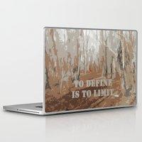 sayings Laptop & iPad Skins featuring Oscar Wilde #6 To define is to limit by bravo la fourmi