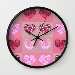 Love and hearts. Wall Clock