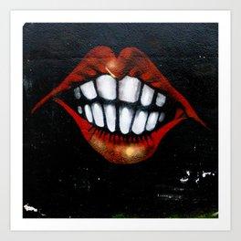 Loud Mouth Art Print