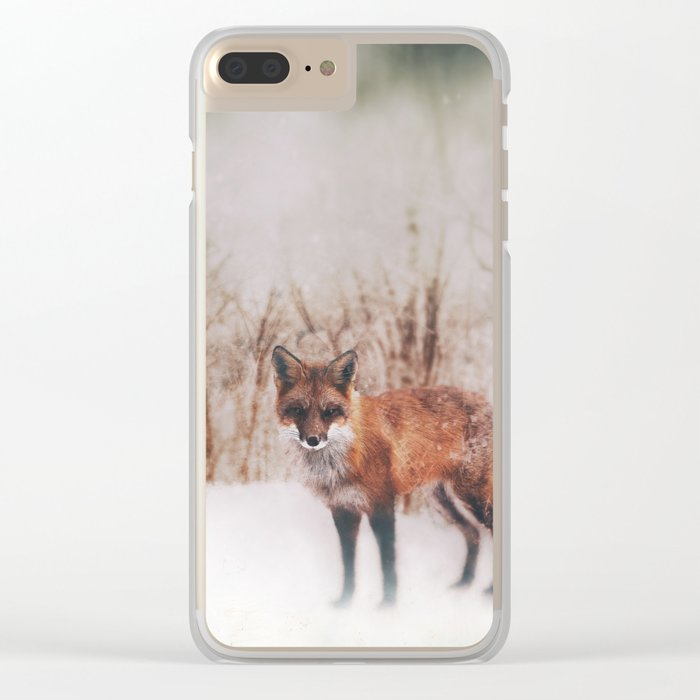 Winter Visitor Clear iPhone Case