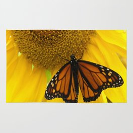 Monarch and Sunflower Rug