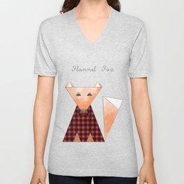 Flannel Fox Unisex V-Neck
