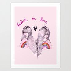 Ladies in Love Art Print