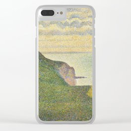 Georges Seurat Seascape at Port-en-Bessin, Normandy 1888 Painting Clear iPhone Case