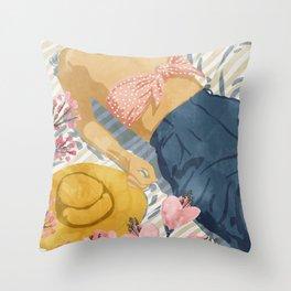 Beach Vacay #society6 #travel #illustration Throw Pillow