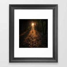 Autumn Fantasy : Let the Light Guide You Framed Art Print