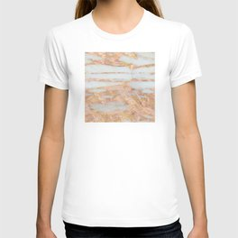 Creme Fraiche Marble with Rose Gold Veins T-shirt