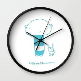 LittleMe Likes Rabbits Wall Clock