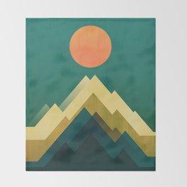 Gold Peak Throw Blanket