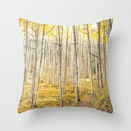 Fall Colors, Yellow Woods Throw Pillow