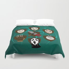 I like to keep trophies Duvet Cover