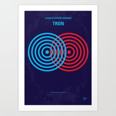 No357 My TRON minimal movie poster Art Print