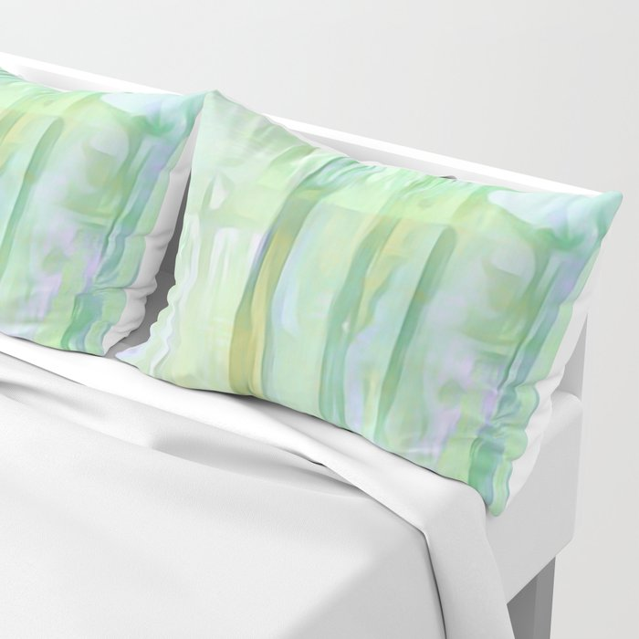 Cool Waves Of Color Abstract Pillow Sham
