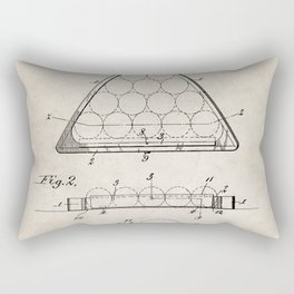 Pool Patent - Billiards Art - Antique Rectangular Pillow