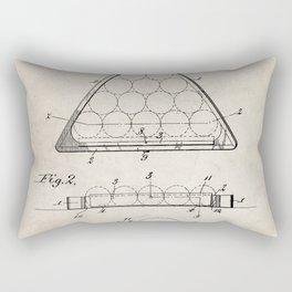 Pool Patent - Billiards Art - Antique Rectangular Pillow