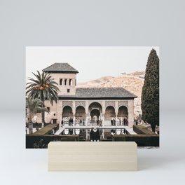 Alhambra Palace at Dusk   Spanish Architecture, Granada   Iconic travel photography wall art, Saige Ashton Prints Mini Art Print